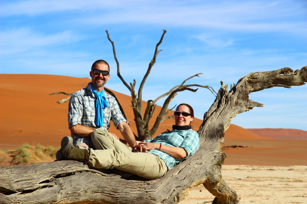 André und Rachel in Namibia